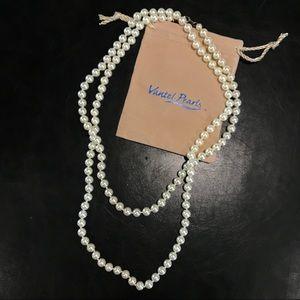 Jewelry - NEW DEAL Vantel Pearls Long Cream Strand